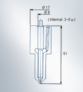 DLL-S type fuel injection injector nozzle